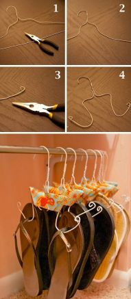50-Genius-Storage-Ideas-all-very-cheap-and-easy-Great-for-organizing-and-small-houses-flip-flop