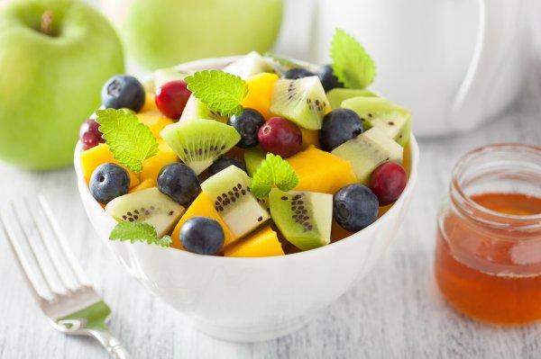 Fruta en el desauyuno